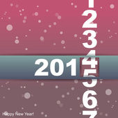 Happy New Year card. — Stock Vector