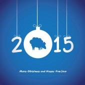 Happy New Year card. — Stock Vector
