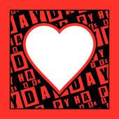 Carte de jour de Valentine — Vecteur