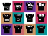Set of twelve monsters. — Stock Vector