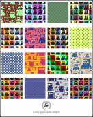 Set of monsters - seamless pattern. — Stock Vector