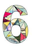 Mosaic digit 6 — Stock fotografie