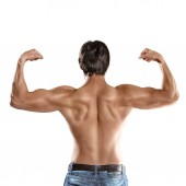 Muscular man torso — Stock Photo