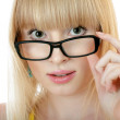 Surprised woman in glasses — Stock Photo #64996797