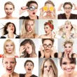 Woman face collection — Stock Photo #64998383