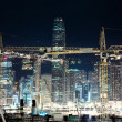Night view of construction site in Hong Kong — Stock Photo #67673949