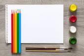 Sanat albüm ve suluboya boya — Stok fotoğraf