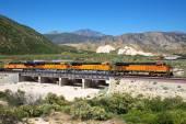 Freight train locomotive in Arizona, USA — Stockfoto