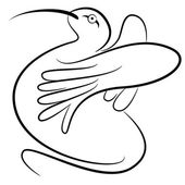 Abstract Hummingbird — Stock Vector