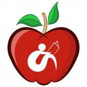 Education Apple — Stock Vector