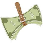 Tightening Belt Metaphor — Stock Vector