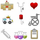 Hospital Item Set — Stockvector
