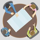 Business Team Meeting  — Stock Vector