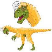 Oviraptor Dinosaur — Stock Vector