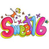 Sweet Sixteen Girl — Stock Vector