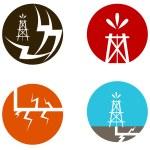 Fracking Oil Icons — Stock Vector #61587513