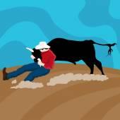 Cattle Wrangler Cowboy — Stock Vector
