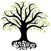 Wellness Tree — Stock Vector