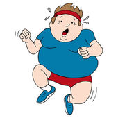 Overweight Runner — Stock Vector