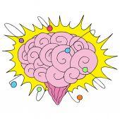 Atomic Powered Brain — Stock Vector