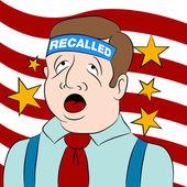 Recalled Politician — Stock Vector