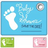 Baby Shower Reminder Card — Stock Vector