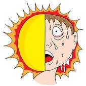 Heat Wave — Stock Vector