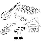 Musical Instruments — Vector de stock