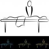 Massage Table — Stock Vector