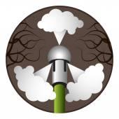Plumbing Snake Nozzle — Stock Vector