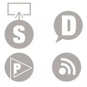 Blog Icons — Stock Vector
