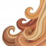 Female Flowing Hair — Stock Vector #61711415