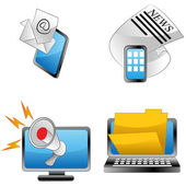 Announcement Icons — Stock Vector
