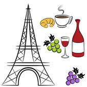 Paris Symbols — Stock Vector
