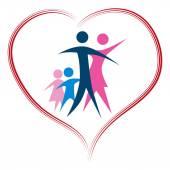 Loving Family — Stock Vector