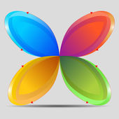 Butterfly Chart — Stock Vector