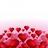 Glowing Red Hearts — Stock Vector