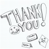 Thank You Messages — Stockvektor