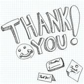 Thank You Messages — Vector de stock