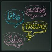 Dessert Message Board — Stock Vector