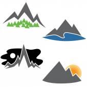 Mountain Range Set — Stock Vector