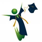 Feliz graduado — Vector de stock