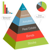 3d Investment Pyramid — Stockvektor