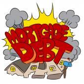 Crushing Mortgage Debt — Stock Vector