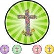 Easter Cross web icon — Stock Vector #64127461