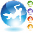 Breakdancer Crystal Icon — Stock Vector #64127463