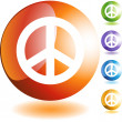 Peace sign web button — Stock vektor #64127623