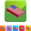 American Flag web button — Stock Vector #64127937