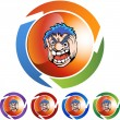 Angry Man web icon — 图库矢量图片 #64128607