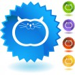 Fat Cat button — Stock Vector #64128849